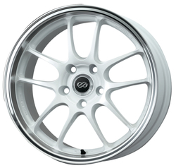 Enkei Wheels PF01 SS - White with Machined Lip