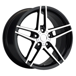 Factory Reproductions Wheels FR 10 C6 ZO6 Corvette - Black Machine Face