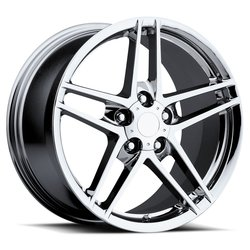 Factory Reproductions Wheels FR 10 C6 ZO6 Corvette - Chrome - 18x10.5