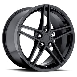 Factory Reproductions Wheels FR 10 C6 ZO6 Corvette - Gloss Black - 18x10.5