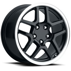 Factory Reproductions Wheels FR 16 ZO6 Vette - Black/Machine Rim
