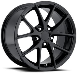 Factory Reproductions Wheels FR 18 C6 Z06 Corvette - Gloss Black Rim