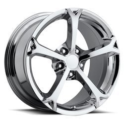 Factory Reproductions Wheels FR 19 C6 GS Corvette - Chrome