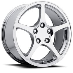 Factory Reproductions Wheels FR 20 C5 Corvette - Chrome Rim - 17x8.5