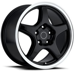 Factory Reproductions Wheels FR 21 ZR1Vette - Black Mach Rim