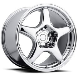 Factory Reproductions Wheels FR 21 C4 ZR1 Corvette - Chrome Rim