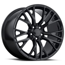 Factory Reproductions Wheels FR 22 C7 ZO6 Corvette - Gloss Black Rim - 19x12