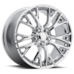 Factory Reproductions Wheels FR 22 C7 ZO6 Corvette - Chrome Rim - 19x12