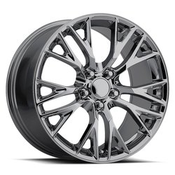 Factory Reproductions Wheels FR 22 ZO6 Vette - Blk Chrome Rim - 17x8.5