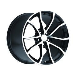 Factory Reproductions Wheels FR 25 C6Cup Vette - Black/Machined Rim