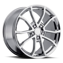 Factory Reproductions Wheels FR 25 C6 Cup Corvette - Chrome Rim - 19x12