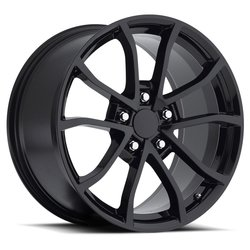 Factory Reproductions Wheels FR 25 C6 Cup Corvette - Gloss Black Rim - 19x12