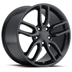 Factory Reproductions Wheels FR 26 C7 Z51 Corvette - Gloss Black Rim - 17x8.5