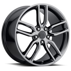 Factory Reproductions Wheels FR 26 Z51Vette - PVD Black Chrome Rim - 17x8.5