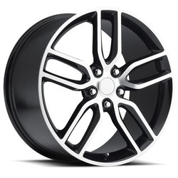 Factory Reproductions Wheels FR 26 C7 Z51 Vette - Black/Machined Rim - 17x8.5