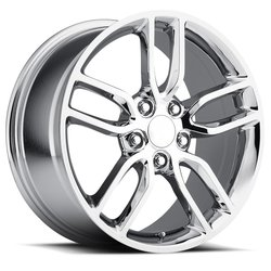 Factory Reproductions Wheels FR 26 C7 Z51 Corvette - Chrome Rim - 17x8.5