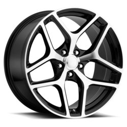 Factory Reproductions Wheels FR 27 Z28 Camaro - Black Machine Face - 20x11