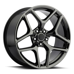 Factory Reproductions Wheels FR 27 Z28 Camaro - PVD Black Chrome Rim