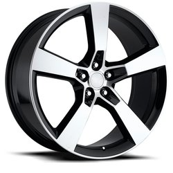 Factory Reproductions Wheels FR 30 SS Camaro - Black Machine Face Rim