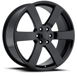 Factory Reproductions Wheels FR 32 Chevy TrailblazeSS - Gloss Black Rim - 24x10