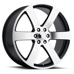 Factory Reproductions Wheels FR 32 Trailblazer SS - Black Machine Face - 24x10