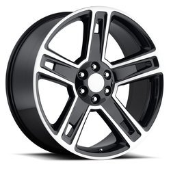Factory Reproductions Wheels FR 34 Chevy Silverado - Black Machine Face Rim