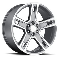Factory Reproductions Wheels FR 34 Chevy Silverado - Grey Machined Face Rim