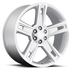 Factory Reproductions Wheels FR 34 Chevy Silverado - Silver Machine Face Rim
