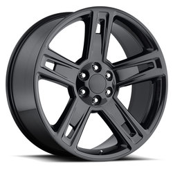 Factory Reproductions Wheels FR 34 Silverado - PVD Black Chrome Rim