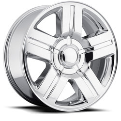 Factory Reproductions Wheels FR 37 Chevy TX Silverado - Chrome Rim - 24x10