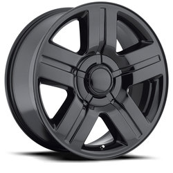 Factory Reproductions Wheels FR 37 Chevy TX Silverado - Gloss Black Rim - 26x10