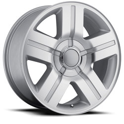 Factory Reproductions Wheels FR 37 TX Silverado - Silver Machined Face Rim - 26x10