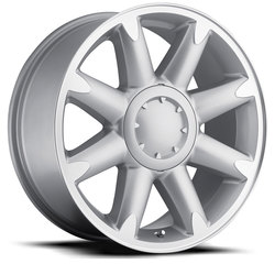 Factory Reproductions Wheels FR 38 YukonDenali - Silver/Machined Rim