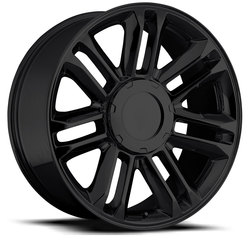 Factory Reproductions Wheels FR 39 Cadillac Escalade Plat - Gloss Black - 24x10