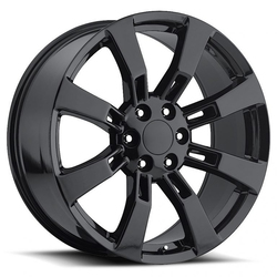 Factory Reproductions Wheels FR 40 Escalade - Gloss Black Rim - 26x10