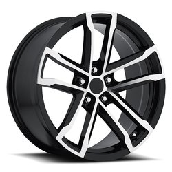 Factory Reproductions Wheels FR 41 Camaro ZL1 - Black Machine Face - 20x11