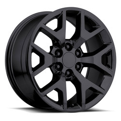 Factory Reproductions Wheels FR 44 GMC Sierra - Gloss Black Rim - 26x10