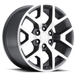 Factory Reproductions Wheels FR 44 GMC Sierra - Grey Machined Face Rim - 24x10