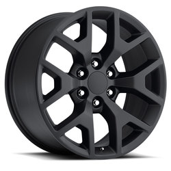 Factory Reproductions Wheels FR 44 GMC Sierra - Satin Black Rim - 26x10