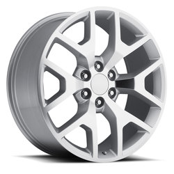 Factory Reproductions Wheels FR 44 GMC Sierra - Silver Machined Face Rim - 26x10