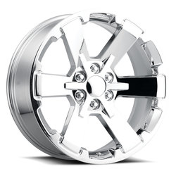 Factory Reproductions Wheels FR 45 GMC Dual SixStar - Chrome - 24x10