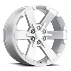 Factory Reproductions Wheels FR 45 GMC Dual SixStar - Silver Rim