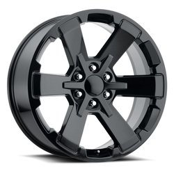 Factory Reproductions Wheels FR 45 GMC Dual SixStar - Gloss Black Rim