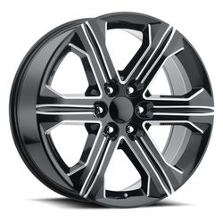 Factory Reproductions Wheels FR 47 2018 Sierra - Black Ball Milled Rim
