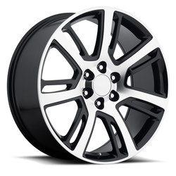 Factory Reproductions Wheels FR 48 Cadillac Escalade - Black Machined Face - 24x10