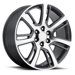 Factory Reproductions Wheels FR 48 Cadillac Escalade - Grey Machined Face - 24x10