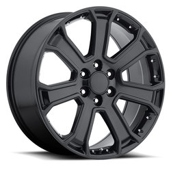 Factory Reproductions Wheels FR 49-GMC Yukon Denali - Gloss Black Rim
