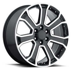 Factory Reproductions Wheels FR 49 Yukon Denali - Black Machined Face Rim
