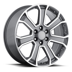 Factory Reproductions Wheels FR 49 Yukon Denali - Grey / Machine Rim