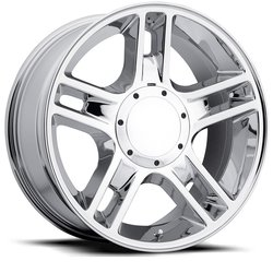 Factory Reproductions Wheels FR 51 FordHarley - Chrome Rim
